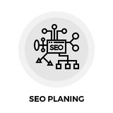 SEO Planing Line Icon Photo stock