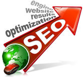 SEO positive red arrow Stock Photo