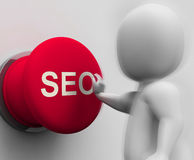 SEO Pressed Shows Internet Marketing In Search Results Royalty Free Stock Photo
