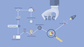 SEO process background. Stock Photography