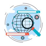 SEO process, web search, data analysis vector concept Stock Image