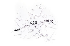 SEO Puzzle Royalty Free Stock Image