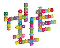 Seo puzzle crossword. Seo words on 3d puzzle pieces crossword.Isolated on white background. EPS file available Stock Image