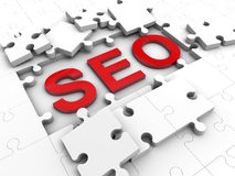 SEO Puzzle Royalty Free Stock Photography