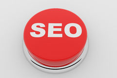 SEO - red button Stock Photos