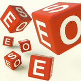 Seo Red Dice Representing Internet Optimization Royalty Free Stock Photography
