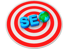SEO Red Target Stock Photography