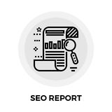 SEO Report Line Icon Fotografia Stock