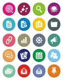 SEO round icon sets Stock Image