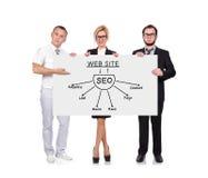 Seo scheme Stock Image