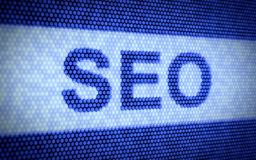 Seo screen Stock Photography