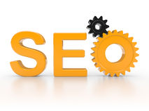 SEO - Search Engine gears Stock Photography