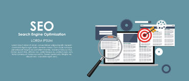 SEO Search Engine Optimazation Vector illustration Stock Photography