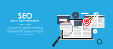 SEO Search Engine Optimazation Vector illustration Royalty Free Stock Images