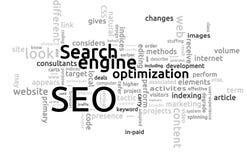 SEO - Search Engine Optimierung Lizenzfreie Stockfotos