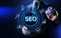 SEO Search engine optimisation digital marketing business technology concept. vector illustration
