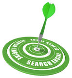 SEO - search engine optimization. Target and dart symbol of a keyword search in a search engine - image is isolated over white background Stock Image