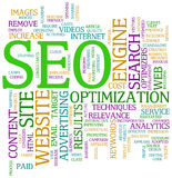 Seo search engine optimization. Illustration of Seo wordcloud tags Stock Photography