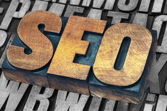 SEO - search engine optimization acronym Stock Image