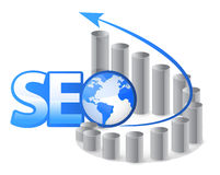 SEO - Search Engine Optimization with arrows Stock Photo