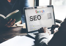 SEO Search Engine Optimization Business Marketing Concept Royalty Free Stock Image
