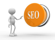 Seo (search engine optimization) button. Stock Photo