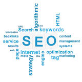 SEO - search engine optimization concept. Word cloud Royalty Free Stock Photography