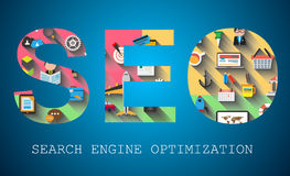 SEO Search engine optimization concept Royalty Free Stock Photography