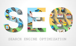 SEO Search engine optimization concept Stock Photography