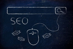 SEO, search engine optimization Royalty Free Stock Image