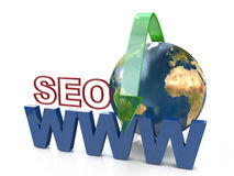 SEO search engine optimization. In the design of the information related to the Internet and promotion Stock Photos