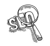 SEO Search Engine Optimization Doodle Royalty Free Stock Photography