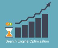 SEO - Search Engine Optimization Flat Icon Vector Royalty Free Stock Photos