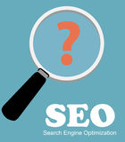 SEO - Search Engine Optimization Flat Icon Vector Royalty Free Stock Images