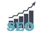 SEO - Search Engine Optimization Flat Icon Vector Royalty Free Stock Photo