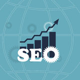 SEO - Search Engine Optimization Flat Icon Vector Stock Photography