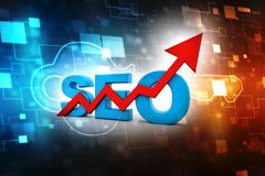 Search Engine Optimization is growing. 3D RENDERING stock images