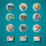 SEO Search engine optimization Icon set Stock Photos