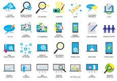 SEO Search Engine Optimization Icons Images libres de droits