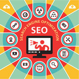 SEO (Search Engine Optimization) Infographic Concept 4 Royalty Free Stock Image