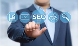 SEO Search Engine Optimization Marketing Ranking Traffic Website Internet Business Technology Concept.  Stock Photos