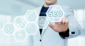 SEO Search Engine Optimization Marketing Ranking Traffic Website Internet Business Technology Concept.  stock images