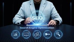 SEO Search Engine Optimization Marketing Ranking Traffic Website Internet Business Technology Concept.  Stock Image