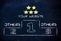 SEO, search engine optimization podium illustration Stock Photography
