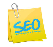 Seo search engine optimization post illustration Stock Photography