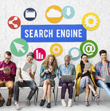 SEO Search Engine Optimization Searching-Concept royalty-vrije stock afbeelding