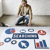 SEO Search Engine Optimization Searching-Concept stock foto's