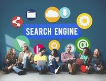 SEO Search Engine Optimization Searching-Konzept lizenzfreies stockfoto