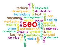 SEO. Or Search Engine Optimization For Website isolated on white background Royalty Free Stock Images