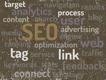 SEO - Search Engine Optimization. Stock Photography